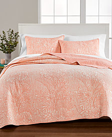 Martha Stewart Collection Botanical Twin Quilt, Created for Macy's