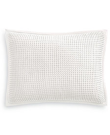 Martha Stewart Collection Waffle King Sham, Created for Macy's