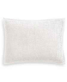 Martha Stewart Collection Waffle Standard Sham, Created for Macy's