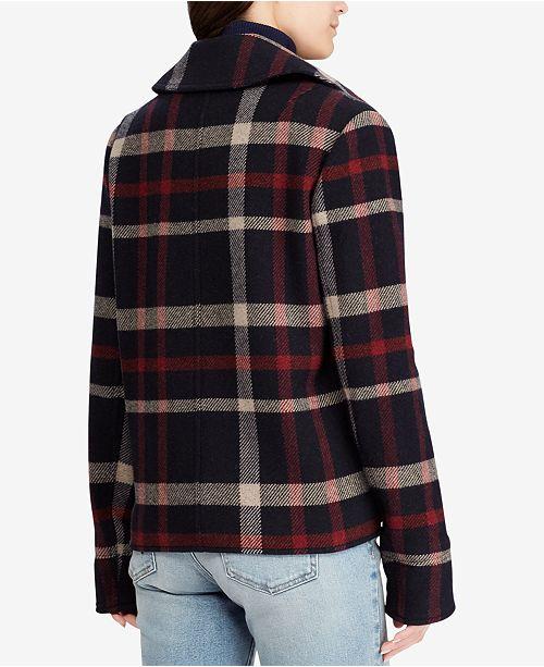 873de857ee32 Lauren Ralph Lauren Bullion-Patch Coat - Coats - Women - Macy s