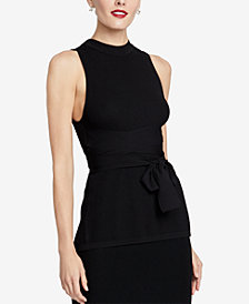 RACHEL Rachel Roy Conall Belted Tank Top, Created for Macy's