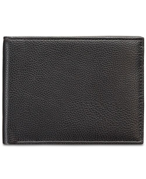 Men's Manhattan Men's Pebble Leather Passcase