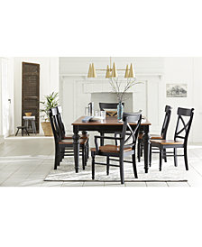 "Custom Dining 76"" Rectangular Table Furniture Collection"