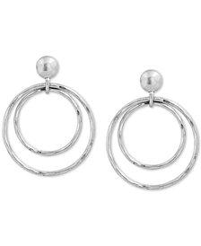 Lucky Brand Silver-Tone Orbital Drop Earrings