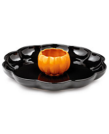 Martha Stewart Collection Pumpkin Chip & Dip Platter, Created for Macy's