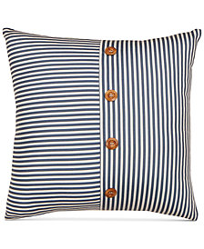 "Hallmart Collectibles Coastal Stripe 20"" Square Decorative Pillow"