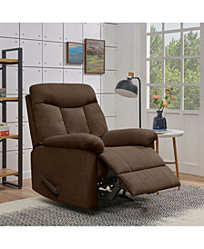 ProLounger Lamarc Wall Hugger Dark Brown Microfiber Recliner