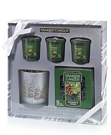 Yankee Candle Holiday Winter Trees Votive Candle Set