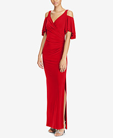Lauren Ralph Lauren Cold-Shoulder Gown