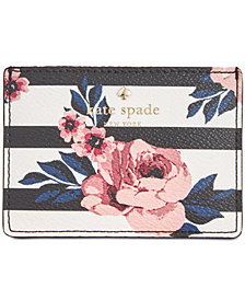 kate spade new york Hyde Lane Rose Striped Card Holder