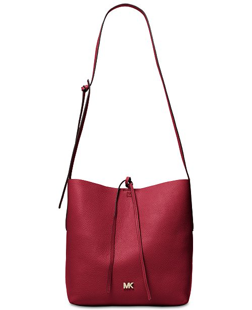 5d7e51639cd8 Michael Kors Junie Pebble Leather Messenger & Reviews - Handbags ...