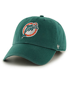 '47 Brand Miami Dolphins CLEAN UP Strapback Cap