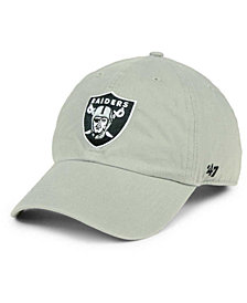 '47 Brand Oakland Raiders CLEAN UP Strapback Cap