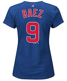 Majestic Women's Javier Baez Chicago Cubs Crew Player T-Shirt