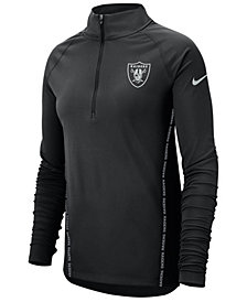 Nike Women's Oakland Raiders Element Core Quarter-Zip Pullover