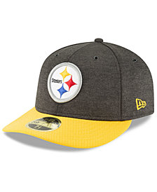New Era Pittsburgh Steelers On Field Low Profile Sideline Home 59FIFTY FITTED Cap