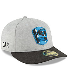 New Era Carolina Panthers On Field Low Profile Sideline Road 59FIFTY FITTED Cap