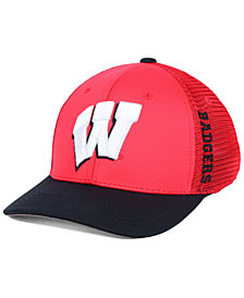 Top of the World Wisconsin Badgers Chatter Stretch Fitted Cap