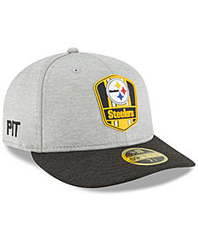New Era Pittsburgh Steelers On Field Low Profile Sideline Road 59FIFTY FITTED Cap