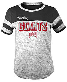 5th & Ocean New York Giants Space Dye Glitter T-Shirt, Girls (4-16)