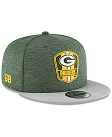 New Era Green Bay Packers On Field Sideline Road 9FIFTY Snapback Cap