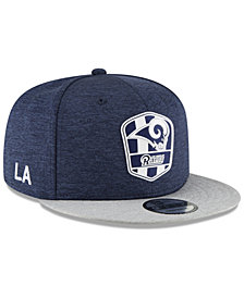 New Era Los Angeles Rams On Field Sideline Road 9FIFTY Snapback Cap