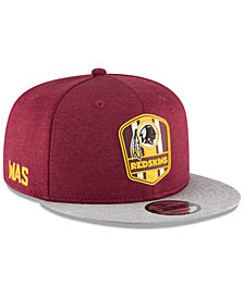 New Era Washington Redskins On Field Sideline Road 9FIFTY Snapback Cap