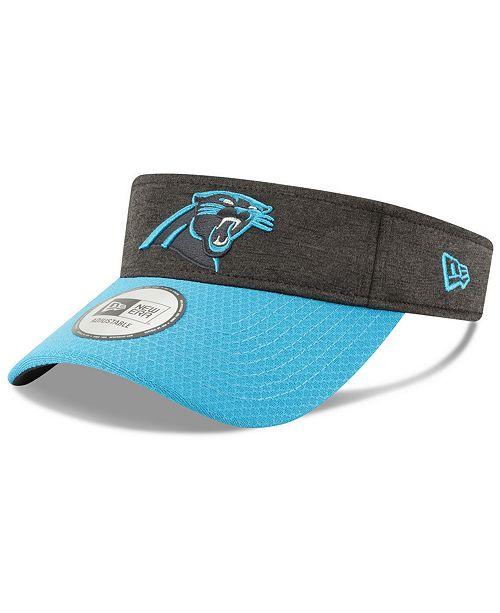 New Era Carolina Panthers On Field Sideline Visor - Sports Fan Shop ... d100ce169208