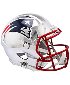 Riddell New England Patriots Speed Chrome Alt Replica Helmet