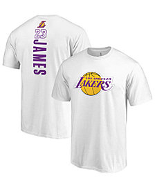 Majestic Men's LeBron James Los Angeles Lakers Backer Name and Number T-Shirt