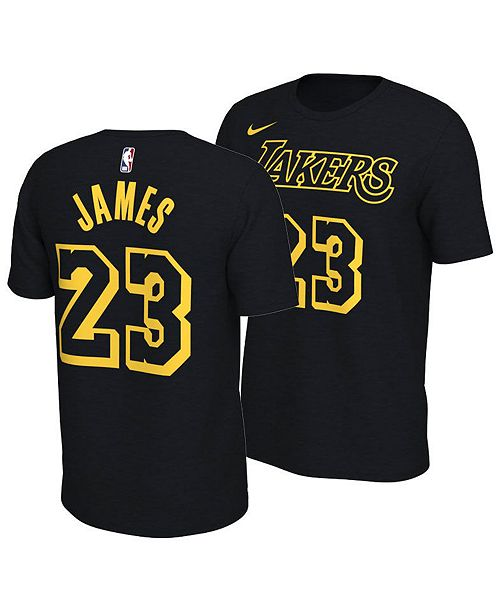finest selection e8c9c c1ef0 Nike LeBron James Los Angeles Lakers City Edition T-Shirt ...