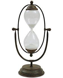 3R Studio Decorative Metal & Glass Hourglass