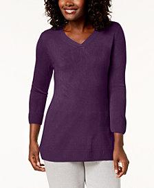 Karen Scott Petite V-Neck Sweater, Created for Macy's
