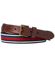 Polo Ralph Lauren Men's Striped Stretch Webbed Belt