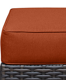 Viewport Outdoor Wicker Ottoman Replacement Sunbrella® Cushion, Quick Ship