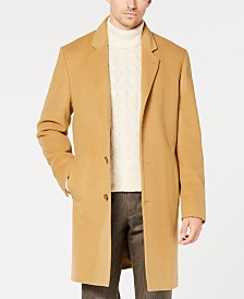 Michael Kors Men's Madison Luxury Italian Fabric Modern-Fit Overcoat