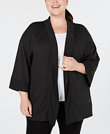 Calvin Klein Performance Plus Size Relaxed Cardigan