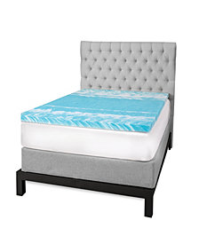 "SensorGel 2"" Gel Swirl Memory Foam Queen Mattress Topper"