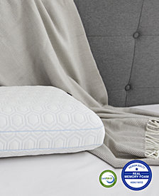 Luxury Gel-Infused Memory Foam Oversized Gusseted Pillow with Heat Reducing COOLcloth Cover and Built-In iCOOL Technology System