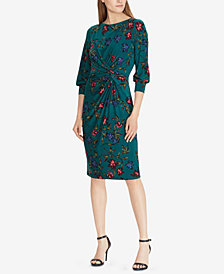 Lauren Ralph Lauren Floral-Print Knotted Dress