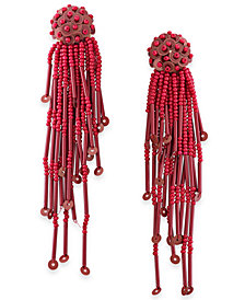 kate spade new york Gold-Tone Sequin & Bead Tassel Drop Earrings