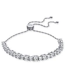 kate spade new york Hematite-Tone Square Crystal Tennis Slider Bracelet