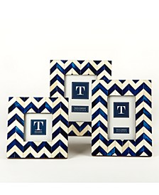Chevron Blue Frames, Set of 3