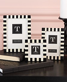 Two's Company Domino Striped Frames, Set of 3