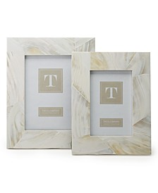 Ocean Sand Mother of Pearl Frames, Set of 2