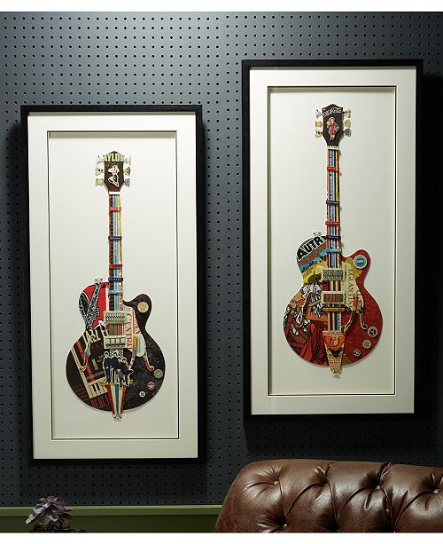 Two's Company Rock On Wall Art, Set of 2
