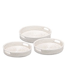 Two's Company Round Trays - Set of 3