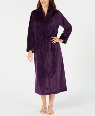 Petite Long Zip-Front Robe 9b5633af7