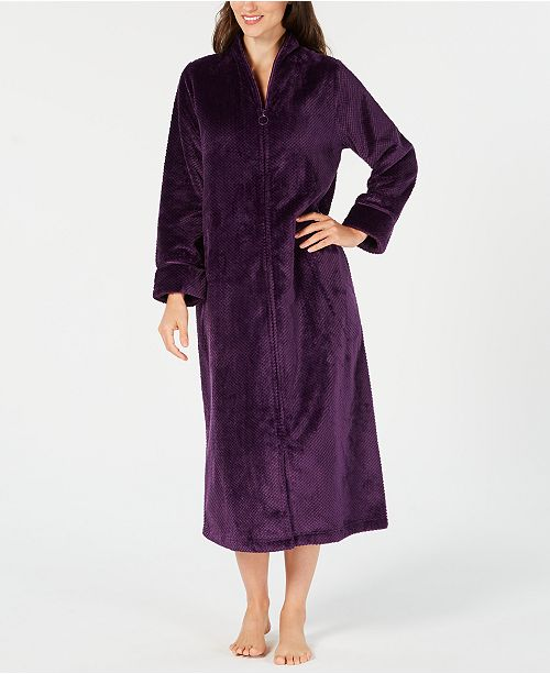 33a9a7016e13 ... Charter Club Petite Long Zip-Front Robe