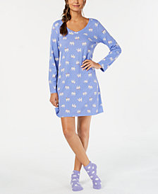 Charter Club Sleepshirt with Socks, Created for Macy's